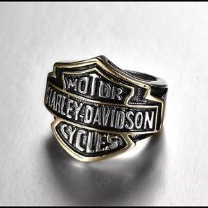 Unisex Harley Davidson Biker Ring Size 10